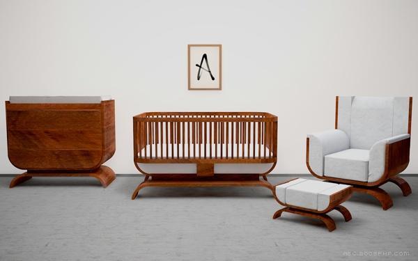 UULMA幼儿园家具-采用木制品,皮革,亚麻作为材料-反映了本世纪中叶现代风格的家具收藏。---酷图编号1075074