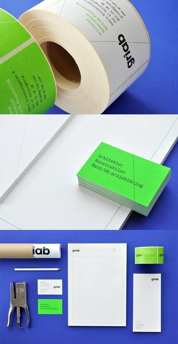 瑞典Griab楼宇建筑和土地规划品牌宣传册设计-Griabs视觉识别已经发生了彻底的重新设计,包括标志,印刷品,标牌和网站。新品牌灵感是建筑的直线和形状常启发封面大图