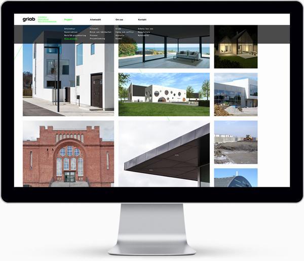 瑞典Griab楼宇建筑和土地规划品牌宣传册设计-Griabs视觉识别已经发生了彻底的重新设计,包括标志,印刷品,标牌和网站。新品牌灵感是建筑的直线和形状常启发---酷图编号1081072
