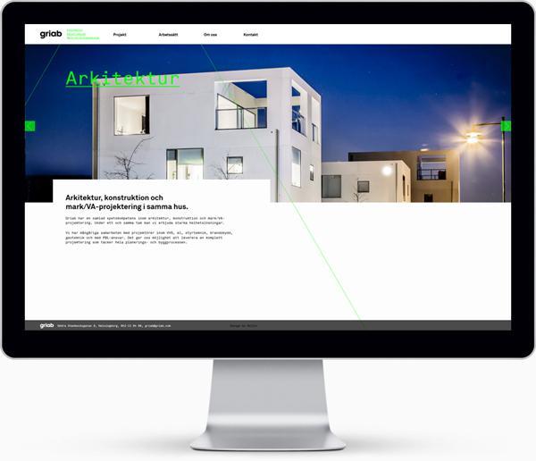 瑞典Griab楼宇建筑和土地规划品牌宣传册设计-Griabs视觉识别已经发生了彻底的重新设计,包括标志,印刷品,标牌和网站。新品牌灵感是建筑的直线和形状常启发---酷图编号1081073