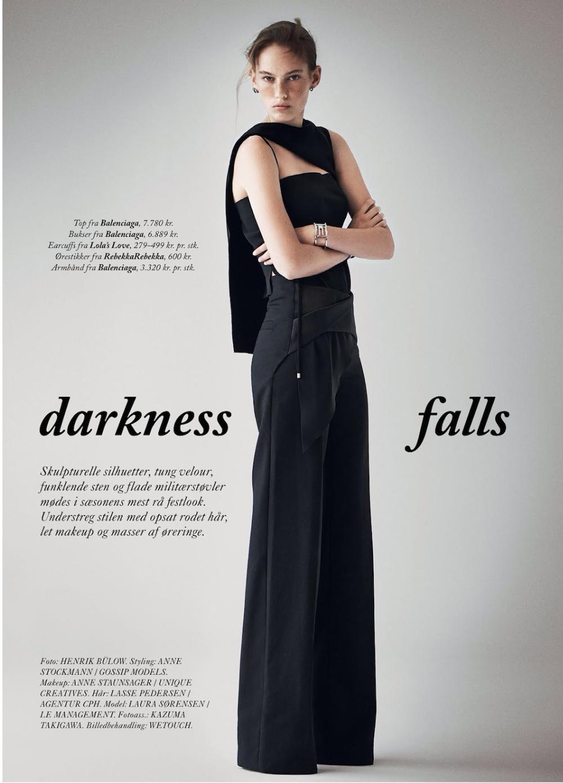 黑暗-劳拉・索伦森-Eurowoman杂志人像---酷图编号1114681
