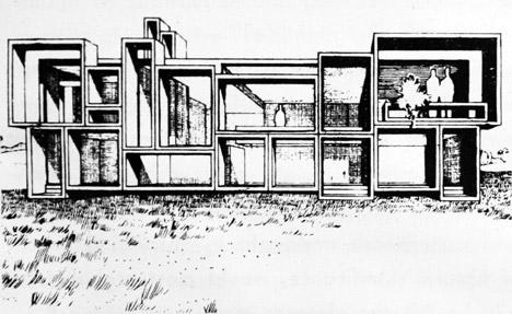 视觉艺术家保罗再现鲁道夫米拉姆住宅房子-在佛罗里达州,根据保罗・鲁道夫基金会设计,内壁采用光滑铸砂色的混凝土块为材料,不但节约成本还环保---酷图编号1138919