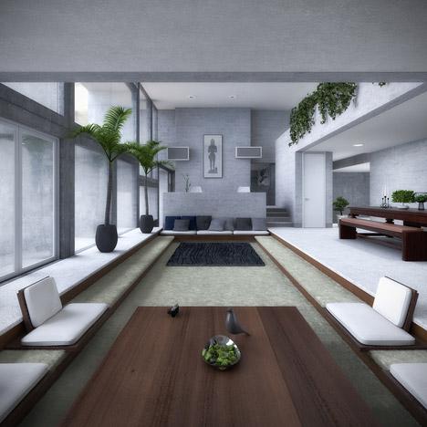 视觉艺术家保罗再现鲁道夫米拉姆住宅房子-在佛罗里达州,根据保罗・鲁道夫基金会设计,内壁采用光滑铸砂色的混凝土块为材料,不但节约成本还环保---酷图编号1138926