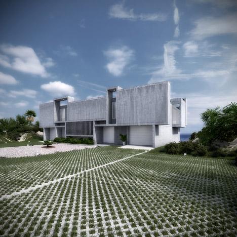 视觉艺术家保罗再现鲁道夫米拉姆住宅房子-在佛罗里达州,根据保罗・鲁道夫基金会设计,内壁采用光滑铸砂色的混凝土块为材料,不但节约成本还环保---酷图编号1138929
