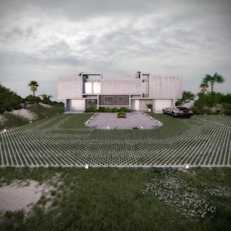 视觉艺术家保罗再现鲁道夫米拉姆住宅房子-在佛罗里达州,根据保罗・鲁道夫基金会设计,内壁采用光滑铸砂色的混凝土块为材料,不但节约成本还环保---酷图编号1138930