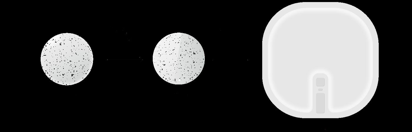 Flipp-饼干型枢纽便携式wifi遥控器---酷图编号1180020