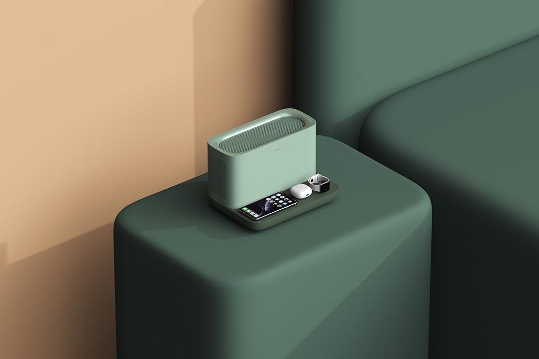 一个时尚的无线充电器-也是一台节省空间的空气净化器封面大图