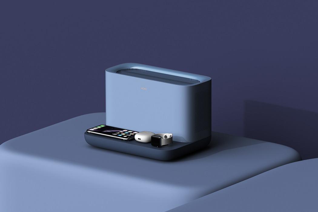 一个时尚的无线充电器-也是一台节省空间的空气净化器---酷图编号1259131
