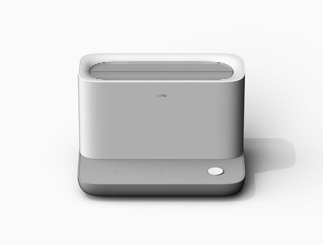 一个时尚的无线充电器-也是一台节省空间的空气净化器---酷图编号1259132