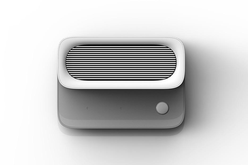 一个时尚的无线充电器-也是一台节省空间的空气净化器---酷图编号1259133