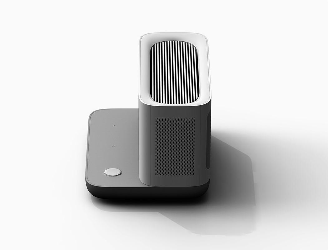 一个时尚的无线充电器-也是一台节省空间的空气净化器---酷图编号1259135