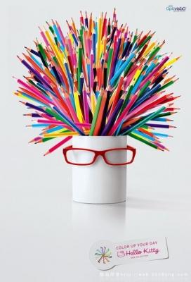 捷克Optivis?o的Hello Kitty系列眼镜广告