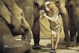 法国ELLE - Into the Wild:世界女性时装之苑-放归野外摄影