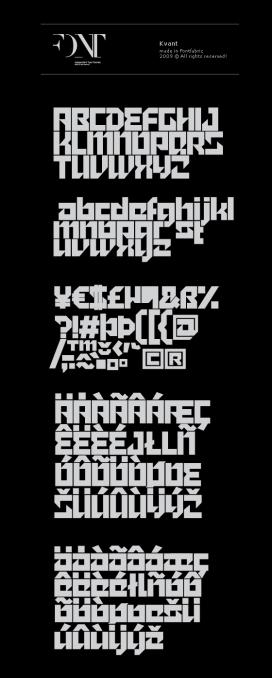 巴西Kvant艺术英文字体设计欣赏
