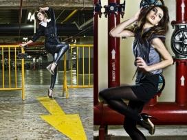 西班牙Cosmopolitan美诱美女模特VS工业钢管摄影