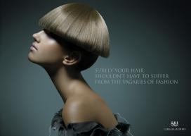 欧美国际美发造型设计平面宣传广告