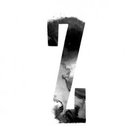 分享二十六个带水墨艺术设计的英文字母