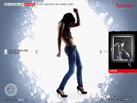 美国Salsa  Fits My Life莎莎时尚家新网站介绍了2010年春夏季牛仔裤酷站截图