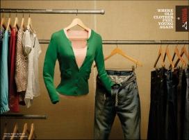 欧美Recycle Boutique创意衣架服饰广告