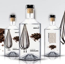 国外简约大气白色主题酒类包装设计欣赏