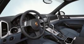 高清:汽车车身内饰壁纸摄影-保时捷-卡宴Cayenne动力越野车