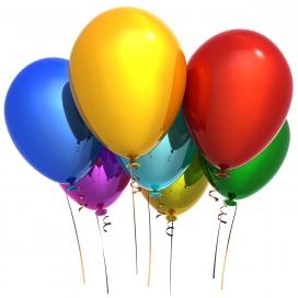 2011主题气球烟花摄影设计图片
