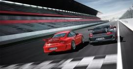 porsche-F1赛道上驰骋的911-gt3rs极速保时捷跑车高清汽车壁纸