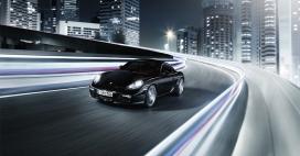 黑马王子动感驰骋-保时捷cayman系列跑车高清摄影