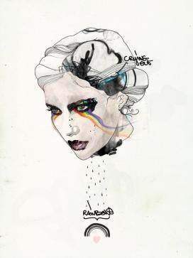 比利时Raphael Vicenzi:疯狂的线条独到手绘插画