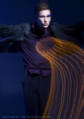 欧美Tecno//Folk不一样的眼睛-时尚男性彩妆摄影