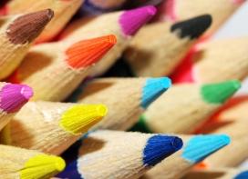 办公文具静物产品之-艺术的铅笔摆设摄影图