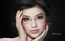 国外Esotika眼镜时尚饰品平面广告