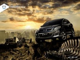 马自达Mazda CX7越野汽车平面广告-捕食者