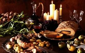 高清晰美食大餐摄影图