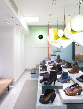 伦敦设计师多希莱维恩-老式的电视鞋品牌露营罗马店