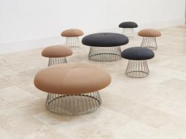 国外蘑菇形状的座位元素