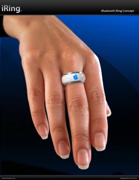 苹果戒指电子设备远程遥控设计