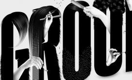 Esquire杂志-美发美容字母字体