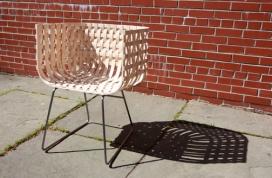 Wattle枝条竹篾椅子