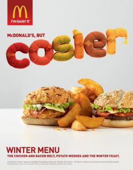 麦当劳冬季彩色菜单