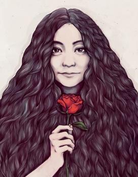 小野洋子-菲律宾马尼拉Soleil Ignacio插画师作品