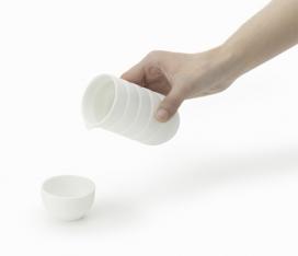 器皿杯子-茶具-双陀螺盖产品设计-日本设计师Nendo作品
