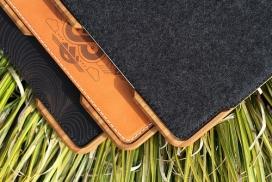 iPad Case-木材皮质IPAD平板电脑外套