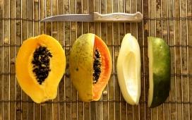 高清晰被切开的木瓜