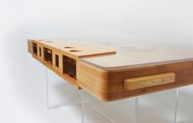 木制盒式磁带家居茶几
