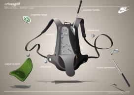 耐克BackPack高尔夫球杆背包设计-法国Pierre-Marie Cronier设计师作品