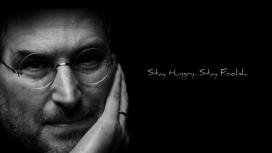 高清晰苹果创始人史蒂夫-乔布斯黑白壁纸