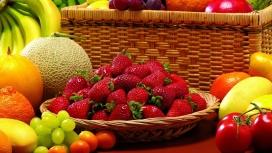 惊人的水果-草莓-哈密瓜-葡萄-樱桃