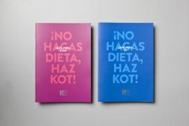 色彩抢眼的男女美食宣传册-墨西哥La Tortilleria摄影设计师作品