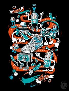 2012年夏季耐克插画-德国杜塞尔多夫DXTR设计工作室作品